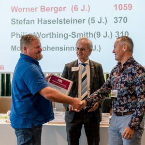vlnr. Kurt Kurzbauer, Harald Kotterer und Werner Berger
